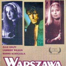 Cine: WARSZAWA. GUIA ORIGINAL ESTRENO.. Lote 195496205