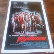 Cine: VIGILANTE - ROBERT FORSTER, FRED WILLIAMSON, RICHARD BRIGHT - GUIA ORIGINAL CORONA 1983. Lote 195507083