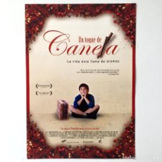 Cine: UN TOQUE DE CANELA - CINE PELÍCULA - GUÍA PUBLICITARIA FICHA TÉCNICA. Lote 195522990