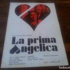 Cine: LA PRIMA ANGELICA - JOSÉ LUIS LÓPEZ VÁZQUEZ, LINA CANALEJAS, CARLOS SAURA - GUIA ORIGINAL C.I.C 1973. Lote 195528465
