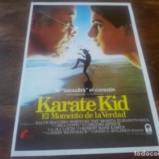 Cine: KARATE KID - RALPH MACCHIO, PAT MORITA, ELISABETH SHUE - GUIA ORIGINAL FILMAYER 1984. Lote 195528711