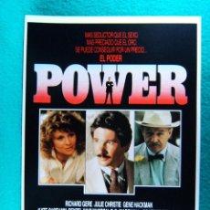 Cine: POWER-EL PODER-SIDNEY LUMET-RICHARD GERE-JULIE CHRISTIE-GENE HACKMAN-DENZEL WASHINGTON-2 PAGINA-1986. Lote 195535262