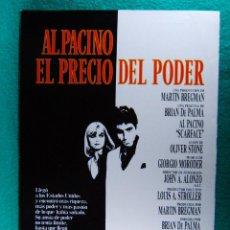 Cine: EL PRECIO DEL PODER-SCARFACE-BRIAN DE PALMA-OLIVER STONE-AL PACINO-MICHELLE PFEIFFER-4 PAGINAS-1983.. Lote 195536582