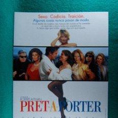 Cine: PRET-A-PORTER-ROBERT ALTMAN-SOPHIA LOREN-MARCELLO MASTROIANNI-JULIA ROBERTS-8 PAGINAS-1994. . Lote 195537130