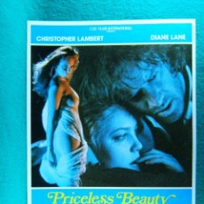 Cine: PRICELESS BEAUTY-SU CUARTO DESEO-CHARLES FINCH-CHIRSTOPHER LAMBERT-DIANE LANE-2 PAGINAS-1988. . Lote 195537458