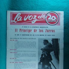 Cine: EL PRINCIPE DE LOS ZORROS-PRINCE OF FOXES-HENRY KING-TYRONE POWER-ORSON WELLES-12 PAGINAS-1950. . Lote 195720703
