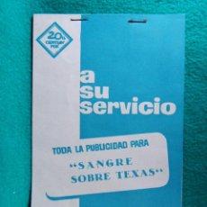 Cine: SANGRE SOBRE TEXAS-ALBERTO DE MARTINO-RICHARD HARRISON-GERARD TICHY-FERNANDO SANCHO-18 PAGINAS-1965.. Lote 196116853