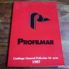 Cinéma: PROFILMAR - CATALOGO GENERAL DE PELICULAS EN 16 M/M AÑO 1987 VER FOTOS. Lote 196333778