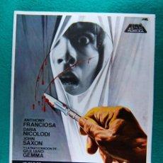 Cinéma: TENEBRE-DARIO ARGENTO-ANTHONY FRANCIOSA-DARIA NICOLODI-JOHN SAXON-GIULIANO GEMMA-4 PAGINAS-1982. . Lote 196921720