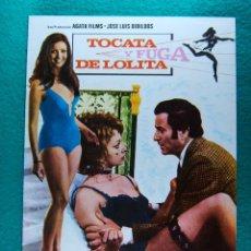 Cine: TOCATA Y FUGA DE LOLITA-ANTONIO DROVE-ARTURO FERNANDEZ-AMPARO MUÑOZ-PACO ALGORA-8 PAGINAS-1974. . Lote 196967640