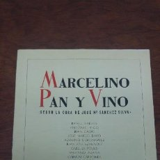 Cine: MARCELINO PAN Y VINO LADISLAO VAJDA PABLITO CALVO FERNANDO REY RAFAEL RIVELLES ANTONIO VICO. Lote 197348783