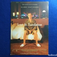 Cine: GUÍA: LOST IN TRASLATION. CON: SOFIA COPPOLA, BILL MURRAY, SCARLET JOHANSON.. Lote 197462810