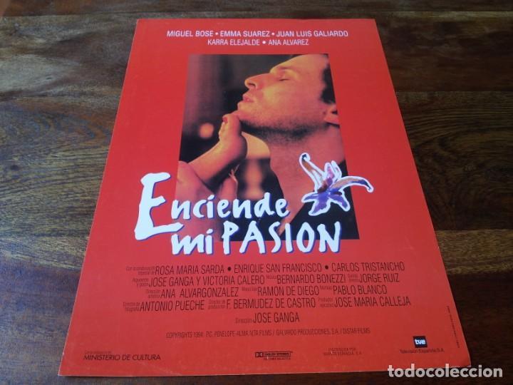 ENCIENDE MI PASION - MIGUEL BOSE, EMMA SUAREZ, KARRA ELEJALDE - GUIA ORIGINAL WARNER AÑO 1994 (Cine - Guías Publicitarias de Películas )