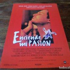 Cinéma: ENCIENDE MI PASION - MIGUEL BOSE, EMMA SUAREZ, KARRA ELEJALDE - GUIA ORIGINAL WARNER AÑO 1994. Lote 197709497