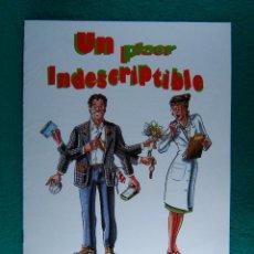 Cine: UN PLAER INDESCRIPTIBLE-VERSION EN CATALAN-IGNASI P FERRE-FERRAN RAÑE-ANGELS GONYALONS-8 PAG-1992.. Lote 197806406