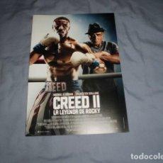 Cine: CREED II. LA LEYENDA DE ROCKY. GUIA PUBLICITARIA SENCILLA. ORIGINAL. NUEVO.. Lote 276996778