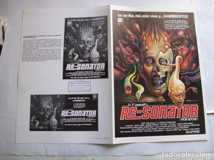 HH3882 RE-SONATOR --- NO ENTRA EN LOTES (Cine - Guías Publicitarias de Películas )