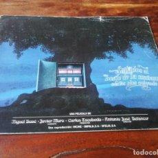 Cinéma: SENTADOS AL BORDE DE LA MAÑANA CON LOS PIES COLGANDO - MIGUEL BOSE, LUIS CIGES - GUIA ORIGINAL 1978. Lote 199491433