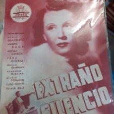 Cine: GUIA DE CINE CIFESA, EXTRAÑO SILENCIO,AÑOS 40-50. Lote 200352868