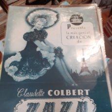 Cine: GUIA DE CINE CIFESA, ZAZA,AÑOS 40-50. Lote 200353076