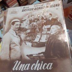 Cine: GUIA DE CINE CIFESA, UNA CHICA AFORTUNADA, AÑOS 40. Lote 200353508