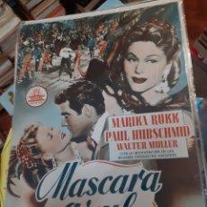 Cine: GUIA DE CINE CIFESA, MASCARA AZUL ,,AÑOS 49-50. Lote 200353687