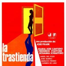 Cine: LA TRASTIENDA 1975 GUÍA ORIGINAL DOBLE CON FOTOS DE SU ESTRENO EN ESPAÑA MARÍA JOSÉ CANTUDO. Lote 200364732