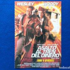 Cine: GUIA ORIGINAL. ASALTO AL TREN DEL DINERO. CON: WESLEY SNIPES, WOODY HARRELSON. Lote 200653556