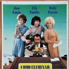 Cine: GUIA PUBLICITARIA ORIGINAL. COMO ELIMINAR A SU JEFE. JANE FONDA, DOLLY PARTON, LILY TOMLIN. 1981. Lote 201169557