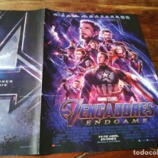 Cine: VENGADORES ENDGAME - ROBERT DOWNEY JR., CHRIS EVANS, MARK RUFFALO - GUIA ORIGINAL MARVEL AÑO 2019. Lote 201227266
