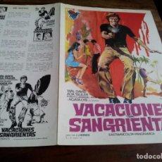 Cinéma: VACACIONES SANGRIENTAS - WAL DAVIS, ADA TAULER, AGATA LYS - GUIA CIRE FILMS AÑO 1973. Lote 201245733