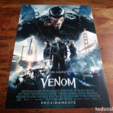 Cine: VENOM - TOM HARDY, MICHELLE WILLIAMS, SCOTT HAZE - GUIA ORIGINAL SONY 2018 - MARVEL. Lote 201249108