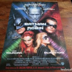Cine: BATMAN & ROBIN - GEORGE CLOONEY, UMA THURMAN, CHRIS O'DONNELL - GUIA ORIGINAL WARNER 1997. Lote 201344631