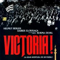 Cine: VICTORIA 1,2 Y 3 1983 GUÍA ORIGINAL 6 PAGINAS ESTRENO EN ESPAÑA HELMUT BERGER DIRECTOR ANTONI RIBAS. Lote 201770603