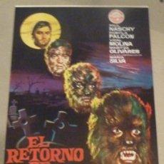 Cinéma: EL RETORNO DE WALPURGIS PAUL NASCHY GUIA PUBLICITARIA ANTIGUA ORIGINAL ESTRENO PERFECTO ESTADO. Lote 253745875