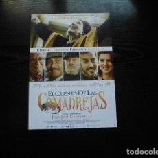 Cinema: EL CUENTO DE LAS COMADREJAS. GUIA PUBLICITARIA SENCILLA. ORIGINAL.MAGNIFICO ESTADO.NUEVO.. Lote 202079342