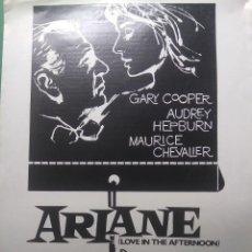 Cine: GUIA TRIPTICO DE CINE ORIGINAL/ ARIANNE / GARY COOPER / AUDREY HEPBURN / BILLY WILDER. Lote 202088047