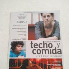 Cine: TECHO Y COMIDA GUIA PUBLICITARIA ORIGINAL DE CINE. Lote 201720785