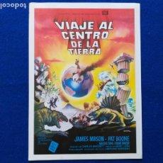 Cine: GUIA PUBLICITARIA: VIAJE AL CENTRO DE LA TIERRA. CON: JAMES MASON - PAT BOONE. Lote 202560828
