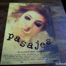 Cinéma: PASAJES - NAJWA NIMRI, ION GABELLA, CHARO LOPEZ - DIR.DANIEL CALPARSORO - GUIA ORIGINAL WARNER 1996. Lote 202572836