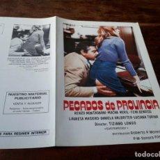 Cinéma: PECADOS DE PROVINCIA - RENZO MONTAGNANI, MACHA MÉRIL, FEMI BENUSSI - GUIA ORIGINAL SONORA 1977. Lote 202893785