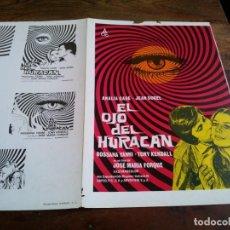 Cinéma: EL OJO DEL HURACAN - ANALIA GADE, JEAN SOREL, ROSSANA YANNI - GUIA ORIGINAL ALIANZA AÑO 1971. Lote 202990691