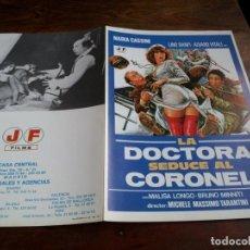 Cinéma: LA DOCTORA SEDUCE AL CORONEL - LINO BANFI,ALVARO VITALI,NADIA CASSINI - GUIA ORIGINAL J FRADE 1981. Lote 203481941