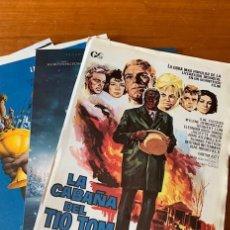 Cine: LOTE DE 100 GUIAS PUBLICITARIAS DE CINE ORIGINALES DISTINTAS. AÑOS 70,80,90 Y 2000... Nº24. Lote 204136201