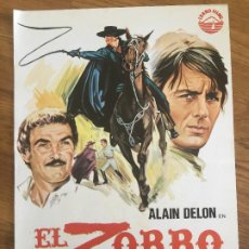 Cinema: EL ZORRO - ALAIN DELON - GUIA SIMPLE. Lote 204260988
