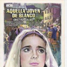 Cine: AQUELLA JOVEN DE BLANCO. Lote 204389301