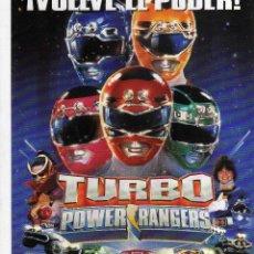 Cine: GUIA DOBLE TURBO POWER RANGERS, 1997. Lote 204420966