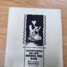 Cine: AVENTURAS EN LOS MARES DEL SUR.GUIA ORIGINAL CINERAMA. Lote 204657306