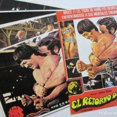 Cine: EL RETORNO DEL TIGRE-BRUCE LEE-LOTE DE 10 GUIAS DE CINE-VER FOTOS-(V-20.112). Lote 204825203