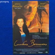 Cine: GUÍA PUBLICITARIA DE LA PELÍCULA: CUMBRES BORRASCOSAS DE EMILY BRONTE. JULIETTE BINOCH RALPH FIENNES. Lote 205367088